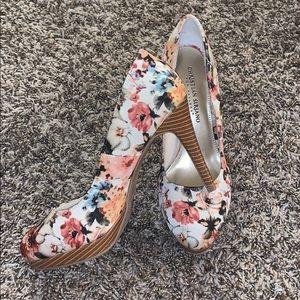 Christian Siriano Floral Heels